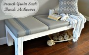 French Grainsack Bench Makeover | HomeRemediesRX.com