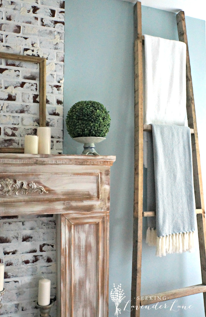 Rustic Blanket Ladder | Seeking Lavender Lane