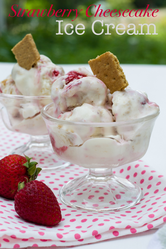 Strawberry Cheesecake Icecream | Urban Girl Bakes