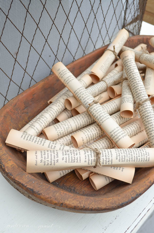 Vintage Paper Rolls To Fill A Dougbowl | Anderson + Grant