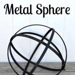 DIY Faux Metal Sphere | Home Remedies