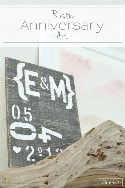 Typography Anniversary Art | Table+Hearth