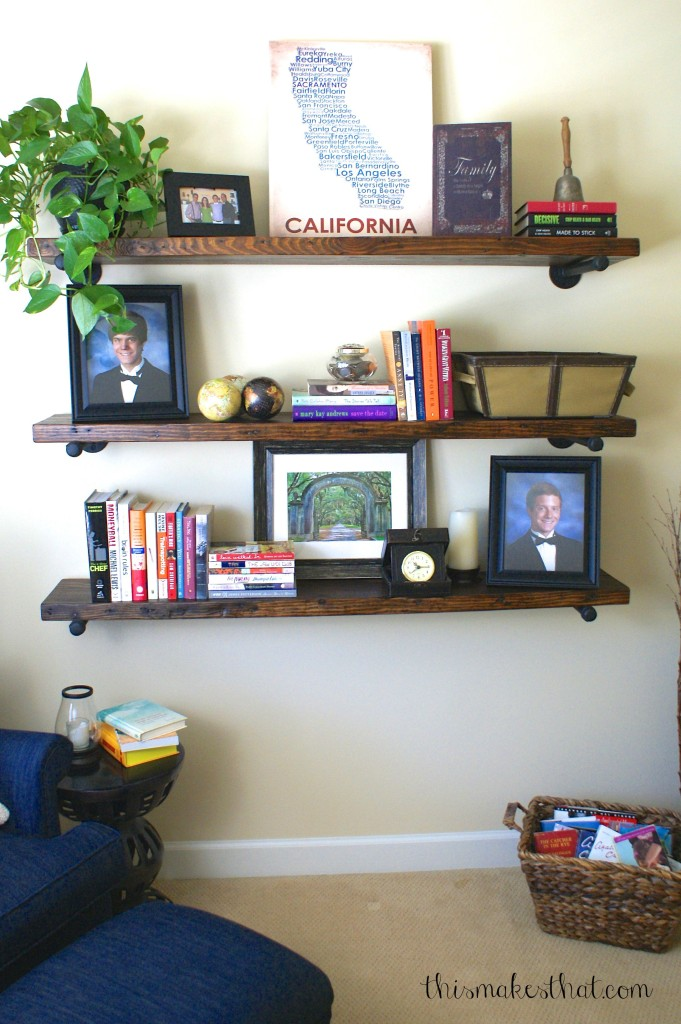 Restoration Hardwared Inspired Rustic Shelves | This Makes That