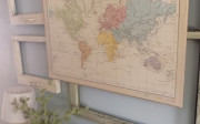 DIY $10 Map Art | The Quaint Sanctuary