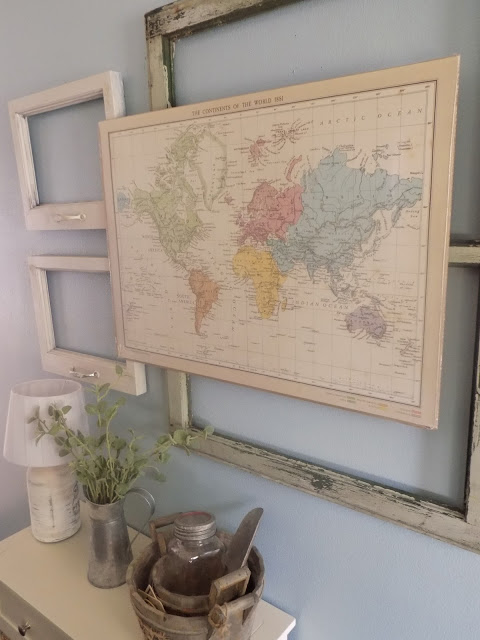 DIY $10 Map Art | The Quaint Sanctuary