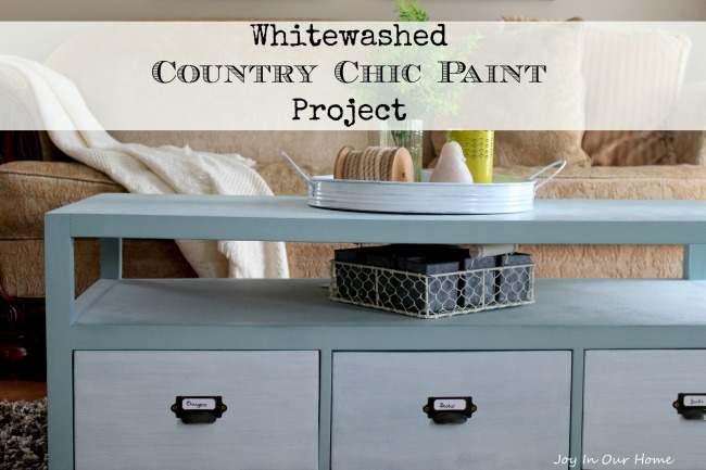 Whitewashed Country Chic Paint Project | Joy In Our Home