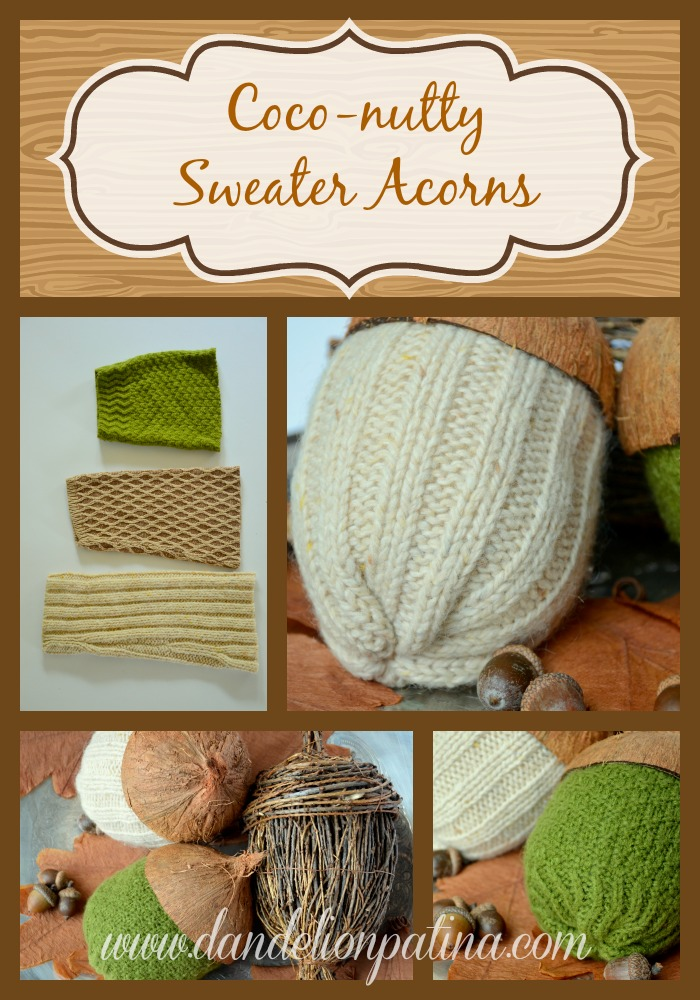 Coco-nutty Sweater Acorns | Dandelion Patina