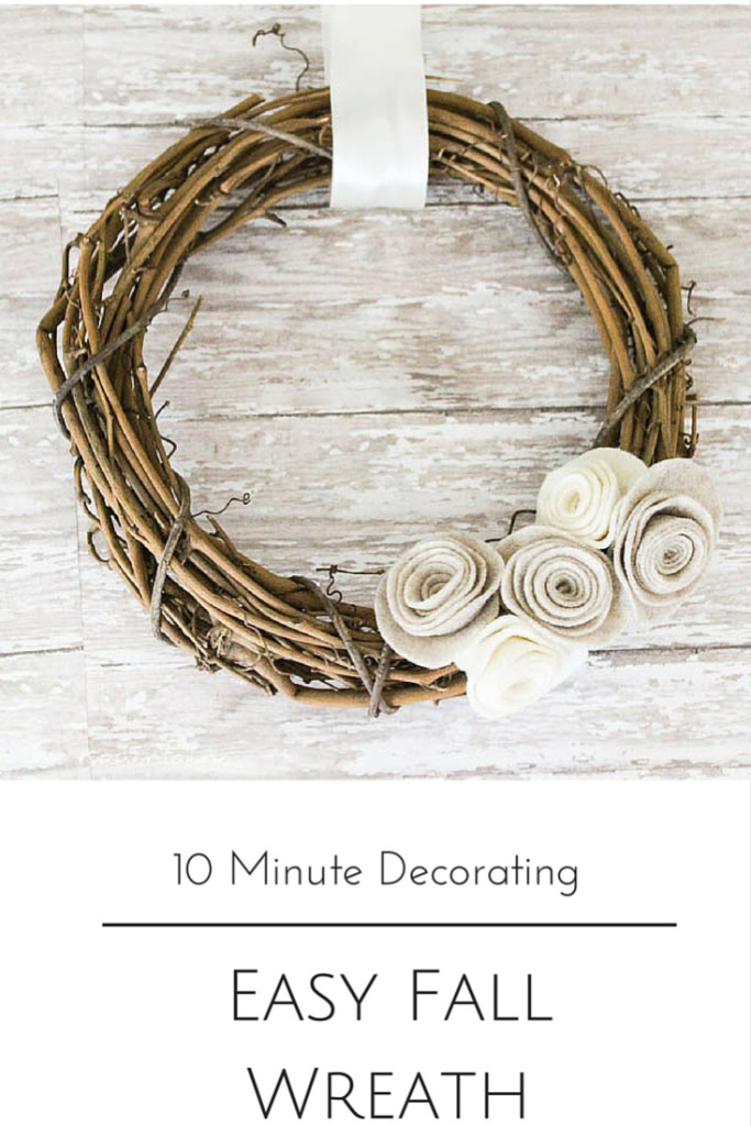 10 Minute Decorating - Easy Fall Wreath | Making It In The Mountains