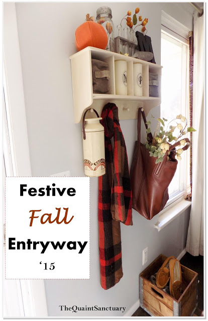 Festive Fall Front Entryway | The Quaint Sanctuary