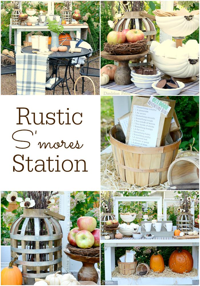 Rustic Smores Station | Dandelion Patina