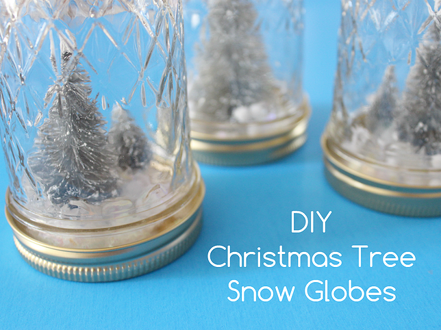 DIY Christmas Tree Snow Globes