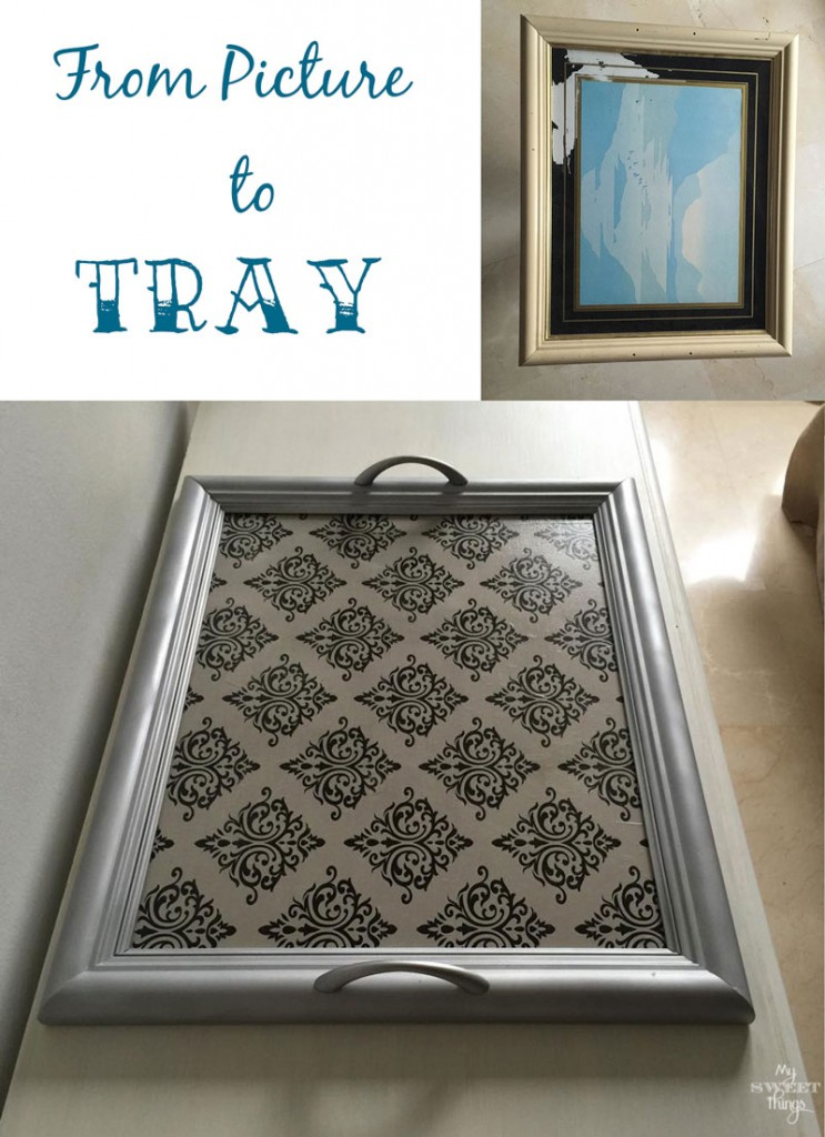 How To Repurpose a Picture into a Tray |My Sweet Things