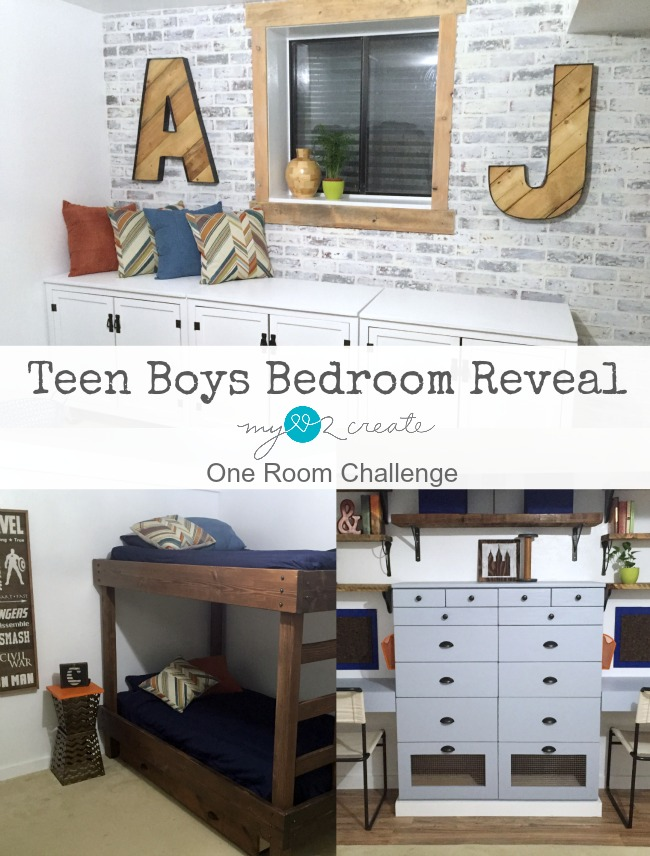 Teen Boys Bedroom Reveal, MyLove2Create