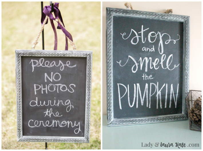 DIY Faux Chalkboard | Lady & Laura Kate