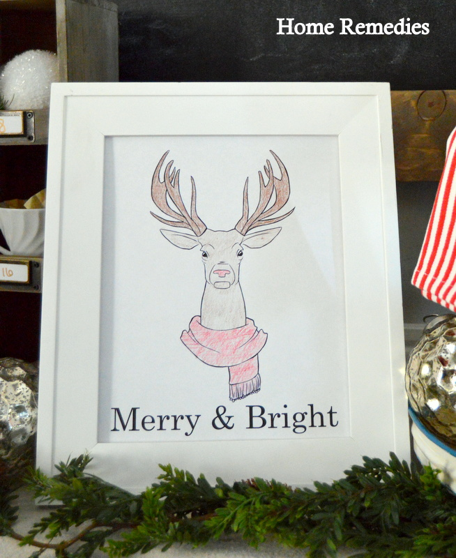 Merry & Bright Printable | Home Remedies