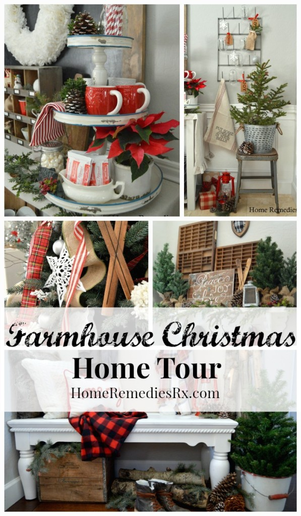A Cozy Farmhouse Style Holiday Home Tour | HomeRemediesRx.com