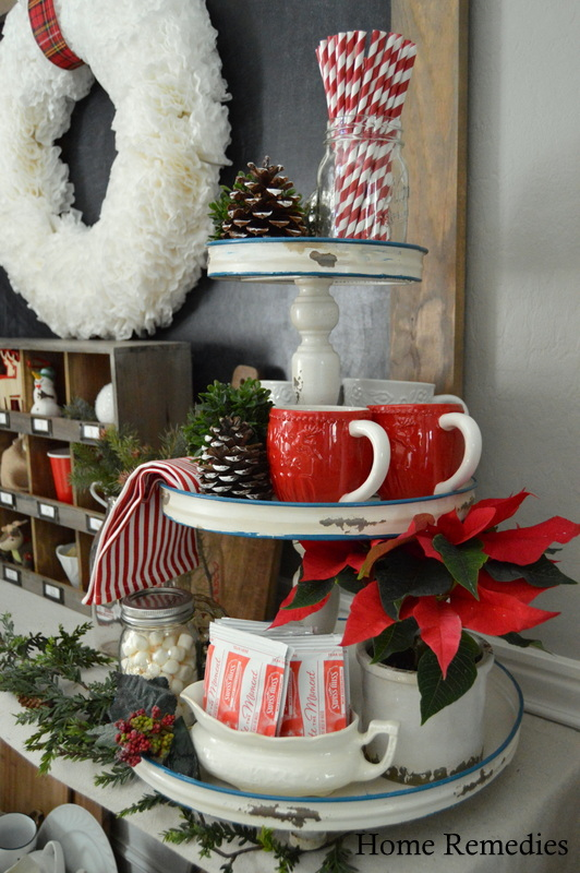 Holiday Home Tour 2015 - Hot Cocoa Bar | HomeRemediesRx.com