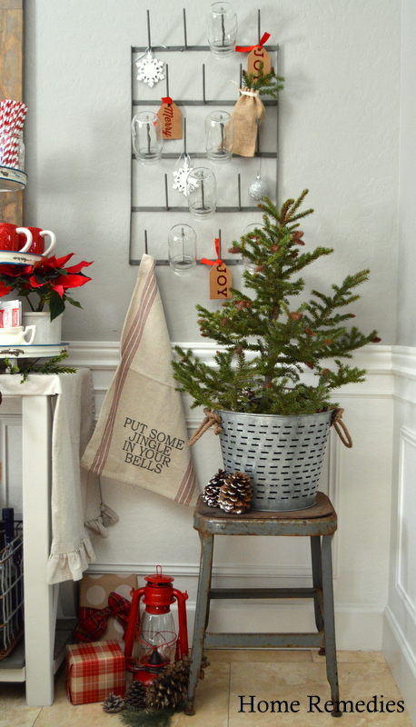 Holiday Home Tour 2015 - Hot Cocoa Bar | HomeRemediesRx.co