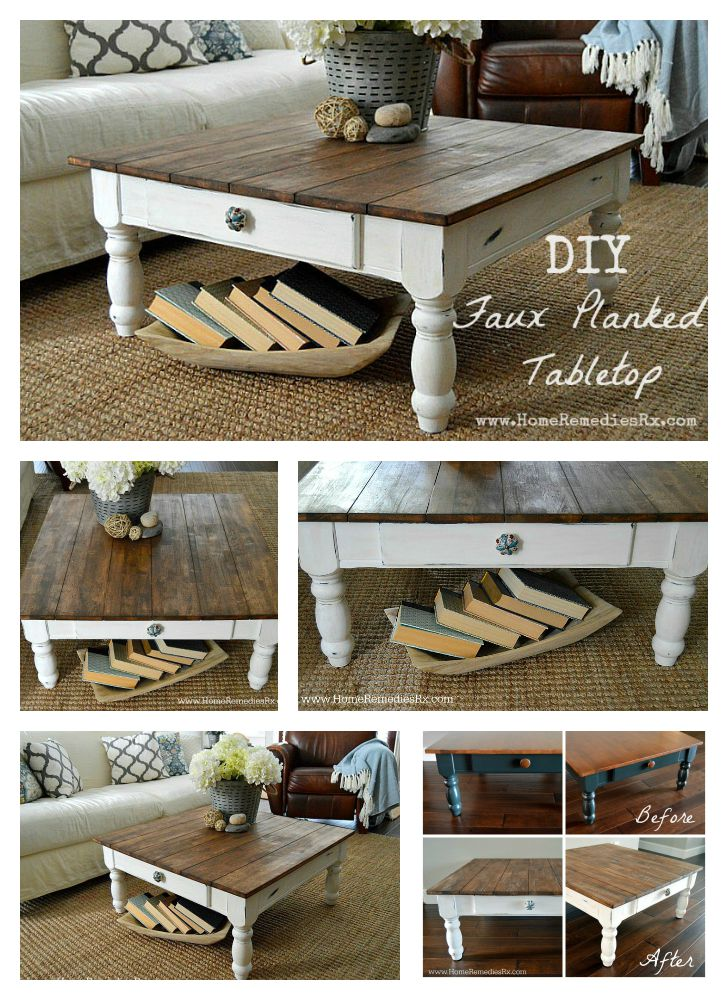 DIY Faux Planked Tabletop | Home Remedies Rx.com